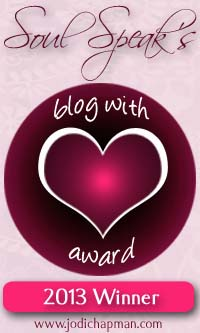 blog with heart award winner 2013
