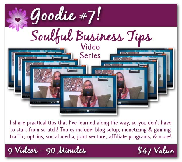 soulful business tips poster with background