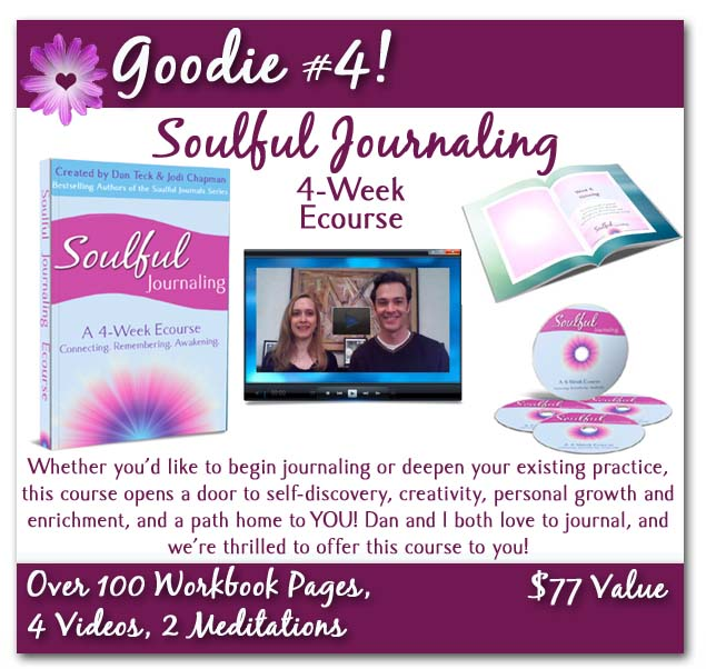 soulful journaling poster with background