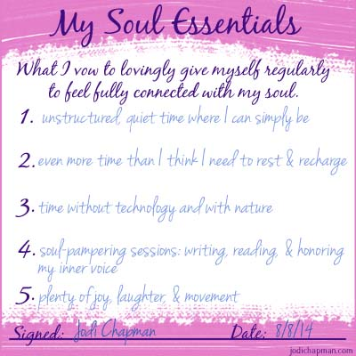 soul essentials my answers small