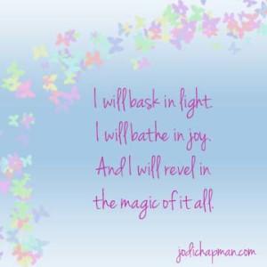 bask in light