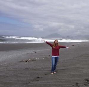 Jodi Chapman on beach