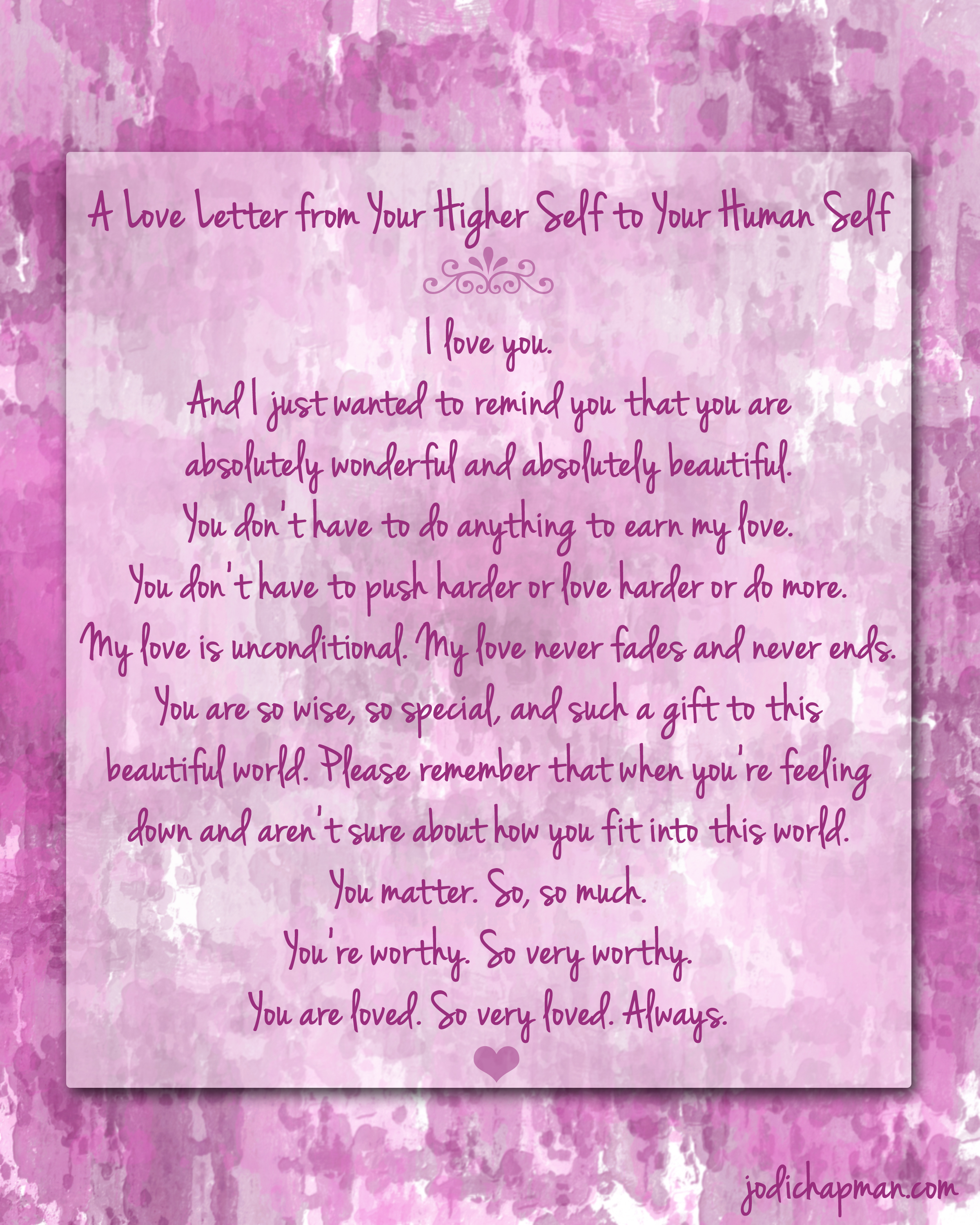 loving you letters a letter to you free printable poster 23515 | love letter to self1